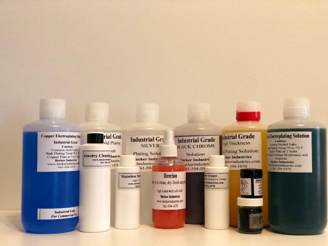 Gold Plating Kit Supplies Solutions for 14k, 18k and 24K, Gold